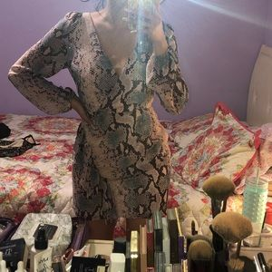 Baby pink long sleeve dress